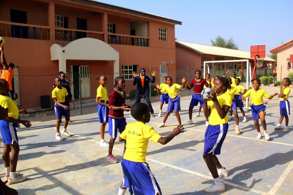 Students Playing Volley Ball